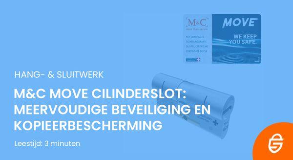M&C Move cilinderslot: meervoudige beveiliging en kopieerbescherming